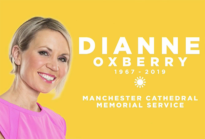 Dianne Oxberry 1969-2019 Manchester Cathedral Memorial Service